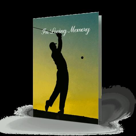 Golfer Memorial Card