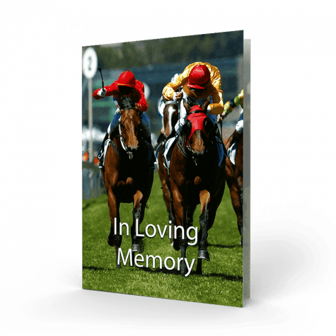 Horse Racing Ireland Memorial Card