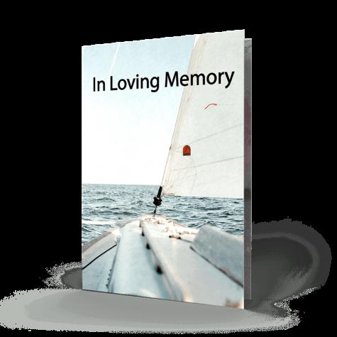 Sailing Boat Memorial Card