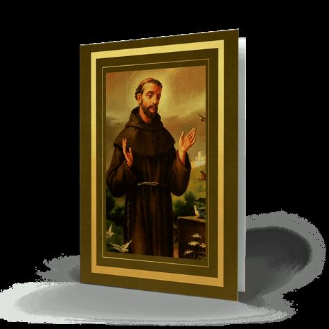 Saint Francis Memorial Card