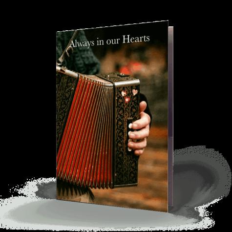 Irish Traditional Music Memorial Card