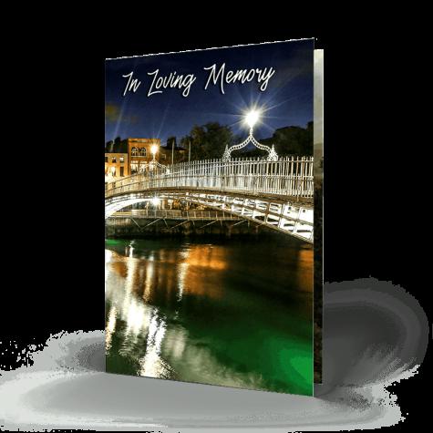 Dublin memorial cards 5 Ha'penny Bridge