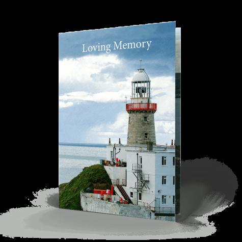Dublin memorial cards 4 The Baily Lighthouse  County Dublin, Ireland.