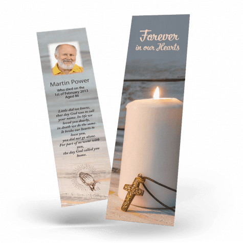 Holy Candle Memorial Bookmark
