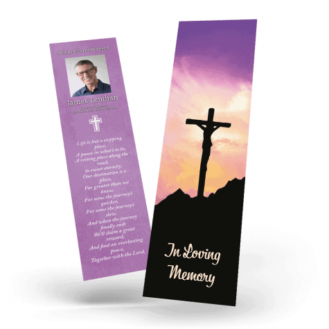 Jesus on the Cross Memorial Bookmark