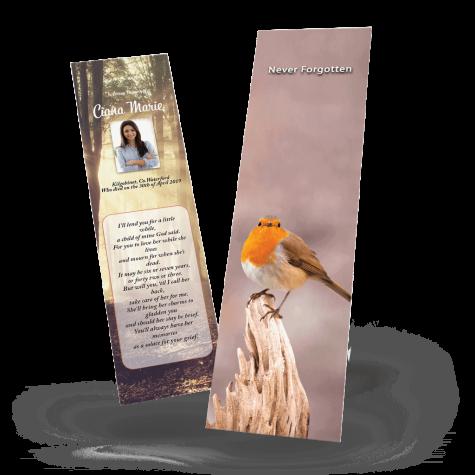 Robin Memorial Bookmark