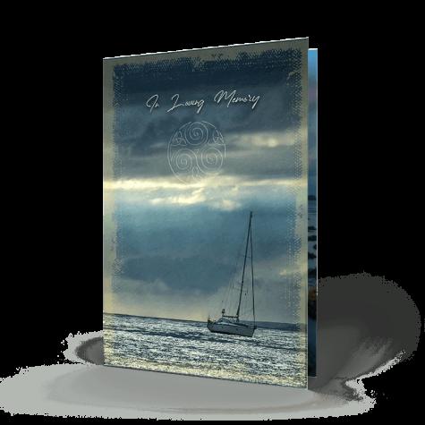 Sailing Memorial Card