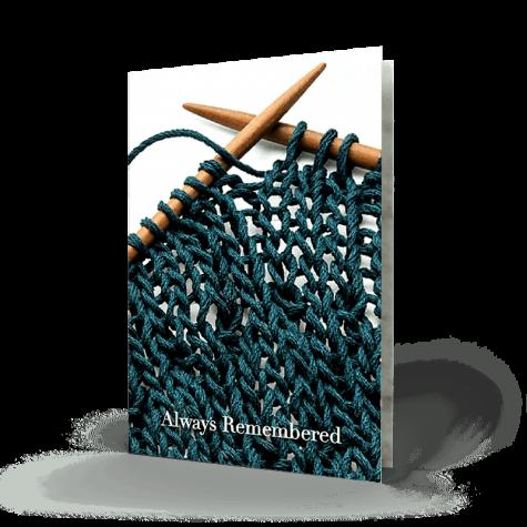 Knitting Memorial Card