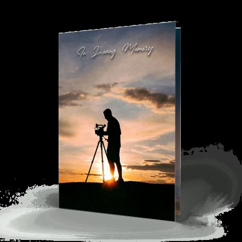 Photographer Memorial Card