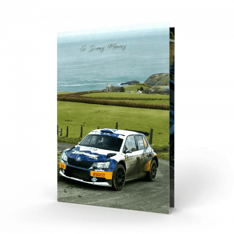 rally car memorial card