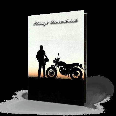 Biker Memorial Card