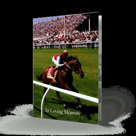 horse racing memorial card