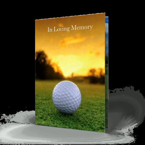 Golf Memorial Card
