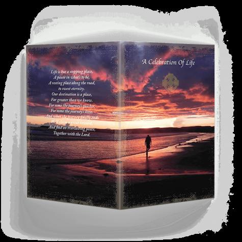 Beach Sunset Memorial Card