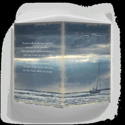 Sailboat Memorial Card