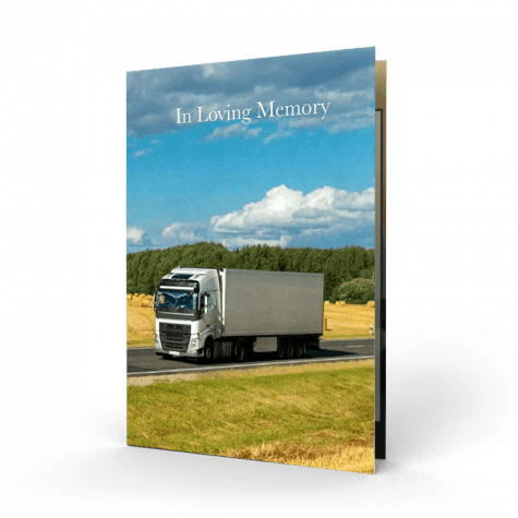 Truck Driver Memorial Card