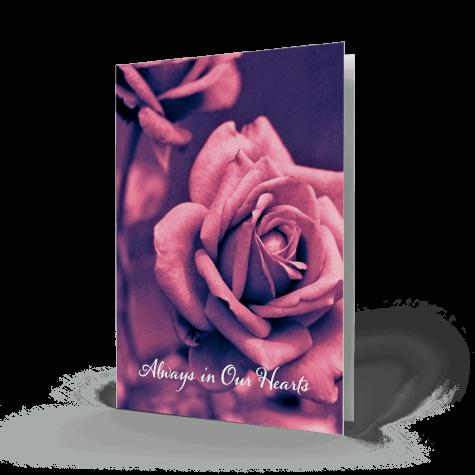 rose memorial card