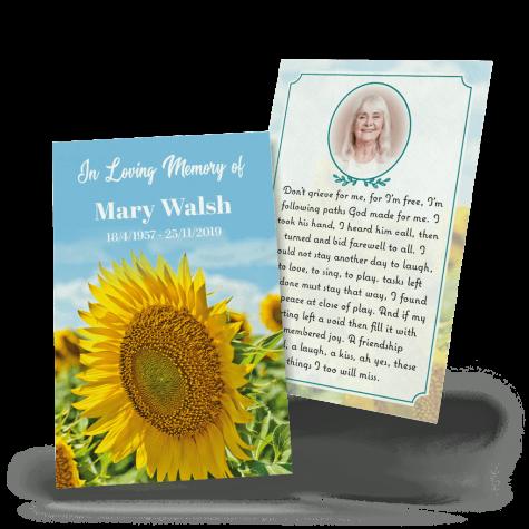 sunflower wallet card
