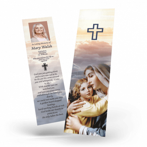 Mother and Child Memorial Bookmark