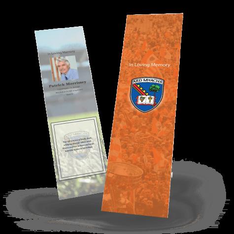 Armagh memorial bookmark