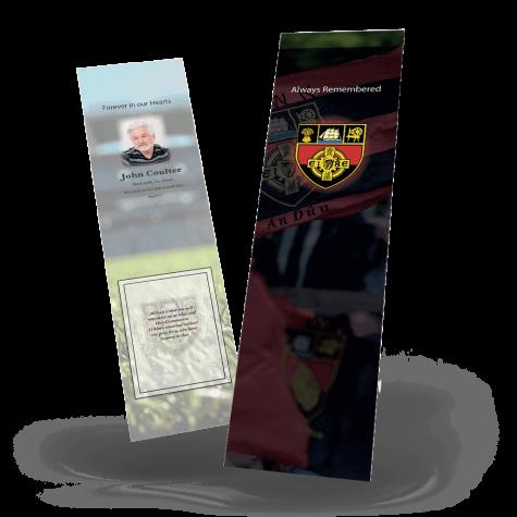 Down Memorial Bookmark