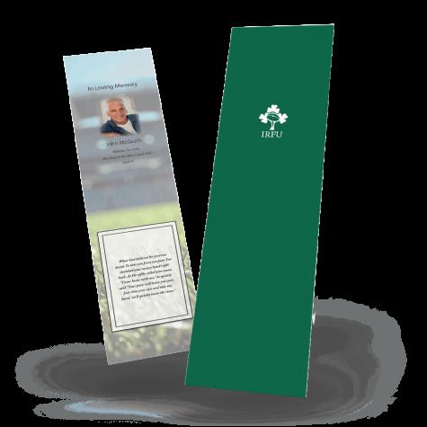 Ireland Rugby Memorial Bookmark