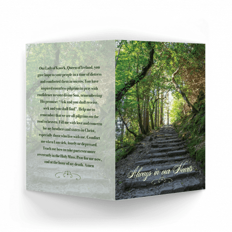 irish woods memorial card