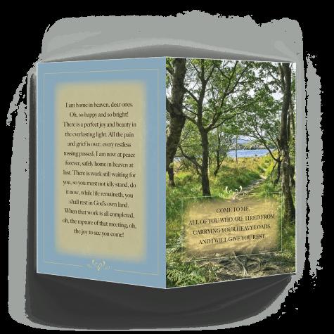 Irish Countryside Memorial Card