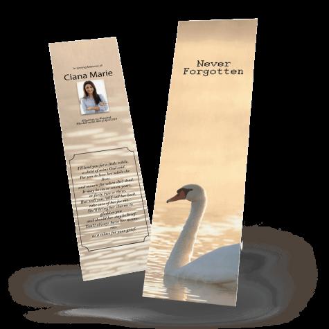 swan memorial bookmark