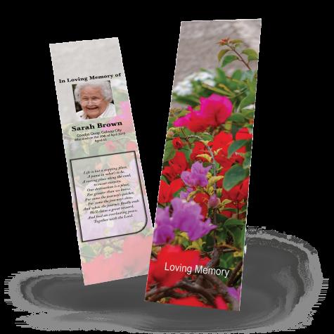 Floral Memorial Bookmark