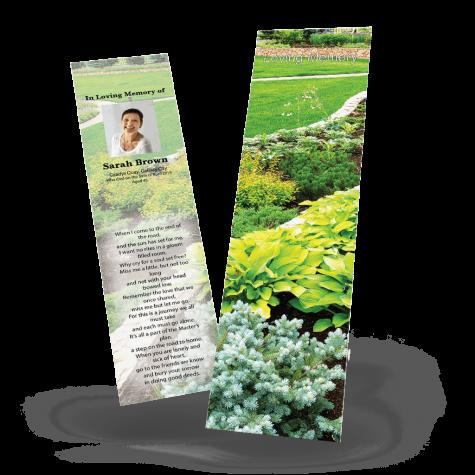 Garden Memorial Bookmark