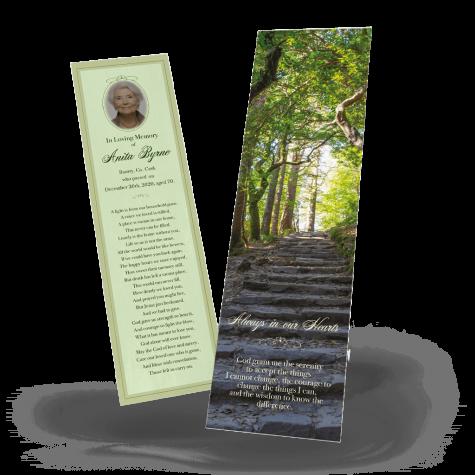 Irish Woods Memorial Bookmark