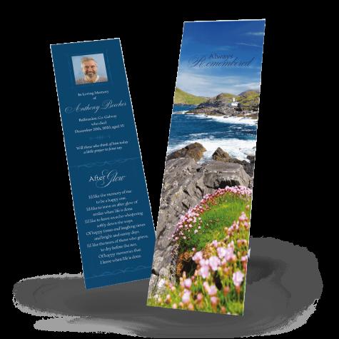 Scenic Ireland memorial bookmark