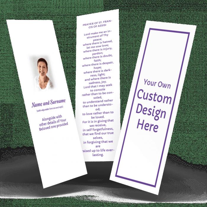custom memorial bookmarks